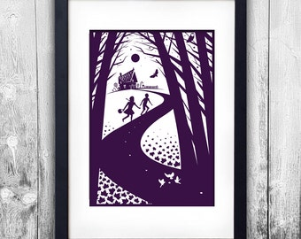 Hansel and Gretel print available to choose in different sizes