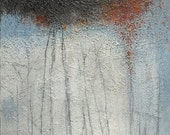 SALE Contemporary Canvas Art, Original Abstract Acrylic Painting with Texture, 24 x 36 inches by Sarah Ettinger