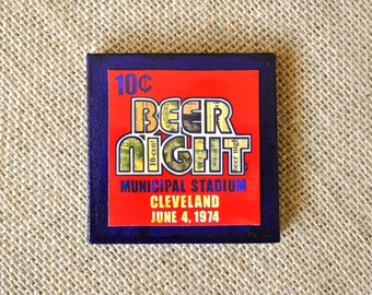 10 Cent Beer Night - Mini Canvas Magnet