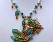 Aspen - A One of a Kind, Hand-Sculpted Pendant on Hand-Beaded Silver Nickel-Free Chain by Kirsten Renae