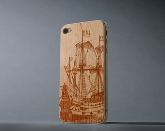 Galleon iPhone 4/4s Real Cherry Wood Skin - Made in the USA - FREE Shipping