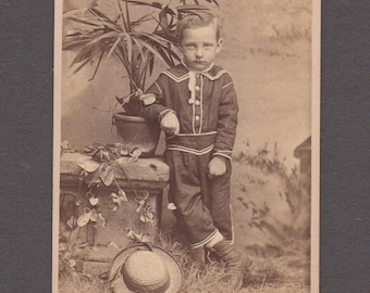 CDV of a Well Dressed Little Boy