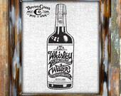 Framed Art Print Wall Decor Home Americana Vintage Rustic Antique Artwork Poster Gift Whiskey Bottle Typography Illustration Design Graphic