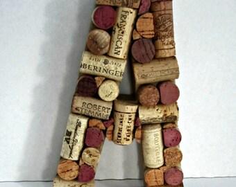 Custom Wine Cork Letter