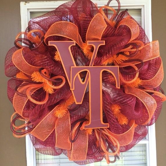 Virginia Tech Door Wreath