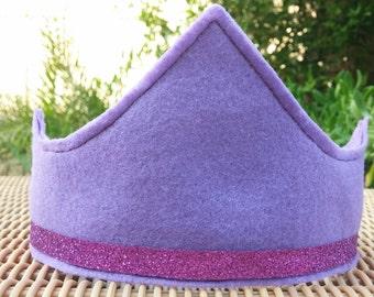 Purple Sparkle Felt Birthday Crown