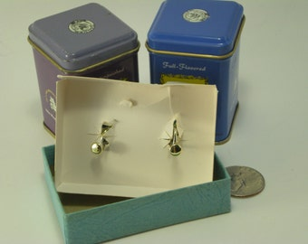 Screw On Pink Stone Earrings