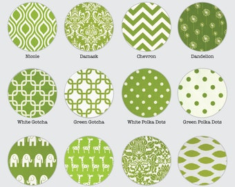 Green Pillow Covers - Chartreuse Green - Chevron, Stripe, Ikat, Geometric, Floral, and More