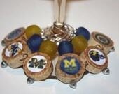 Wine Charms - University of Michigan