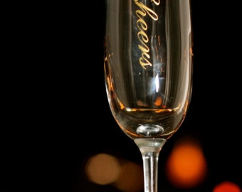 Cheers Champagne Flute