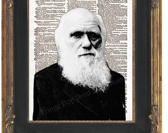 Charles Darwin Art Print 8 x 10 Dictionary Page - Pop Art Naturalist Scientist - Evolution - Science