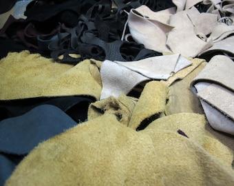 Suede Leather Scrap 1LB