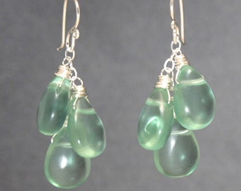 Smooth Fluorite drop earrings Modglam 119