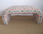 Vintage mid century Waterfall bench