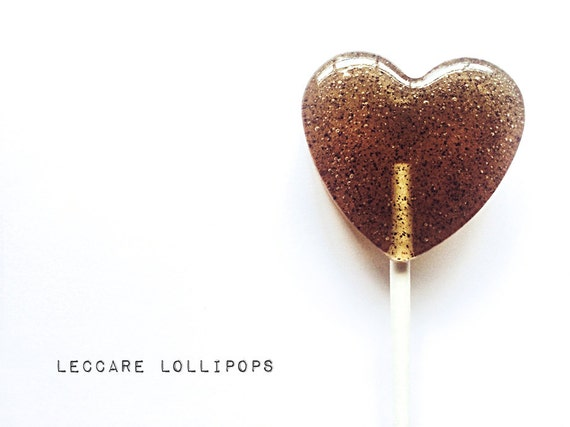 6 Coffee Infused Heart  Lollipops // Cinnamon Latte // Micro Ground Coffee // Sweet Morning Treat // Coffee Lover // Fall Wedding Treat