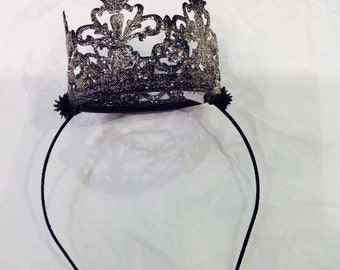 Queen Crown- Black Crown- Birthday crown- Birthday Hat- Evil Queen Crown- Crown Headband- Mothers Day Gift- Renaissance Fair- Sale