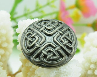 6 pcs 0.71~0.98 inch Retro Ancient silver Patterns Metal Shank Buttons for Coats Sweaters
