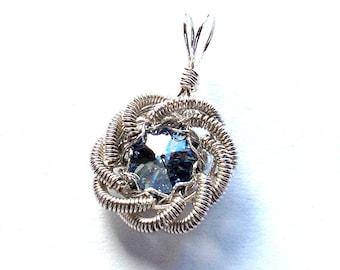 Silver Rose Of Sharon Pendant