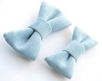 Bow Tie Set. Ice Blue bow tie, Frozen Blue Bow Tie, Steely Blue, Father's Day, Father Son Bow Tie Set, Wedding party bow tie