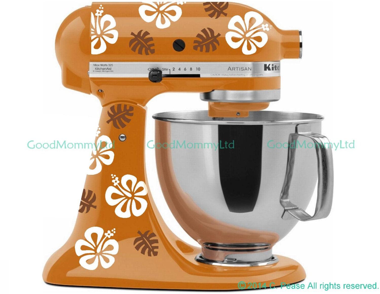 Diy Kitchenaid Mixer Decals ~ Hawaiian mixer decal kit for your kitchenaid stand
