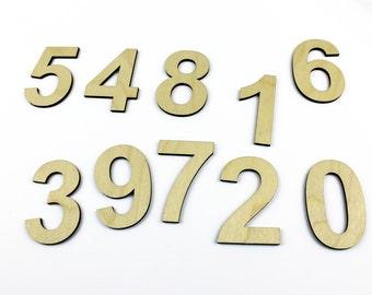 Medium 10  Wooden Numbers / DIY / Unpainted / Wedding / Table Numbers