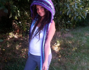 Custom Pointy Elf HeadyHoody festival gear, faerie hood, pixie clothing, hippie clothes