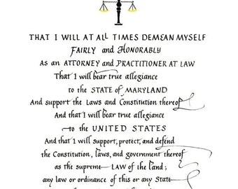 OATH of Attorney At Law (MD)--Clearance!
