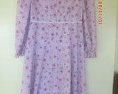 Modest Cottton Mennonite Girls  Dress Size 6 Approximate
