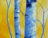 "SALE!! Original impressionist landscape acrylic painting ""Life Intertwined"", 15 x 30 acrylic on canvas. Fall Home decor art."