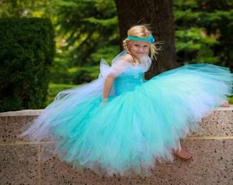 Snowflake Tutu Dress, Winter Tutu Costume,  Winter Princess Costume