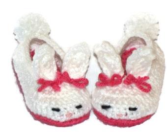 Toddler Bunny Slippers, Bunny Slippers, Crochet
