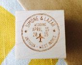 Passport Wedding Stamp - Personalized Destination Wedding Stamp, travel wedding stamp, select a size stamp