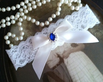 SALE-Bridal Garter-Wedding Garter-Garter-Keepsake-Toss-Garter Belt-Something Blue-blue-bridal white-ivory-off-white-lace garter-vintage