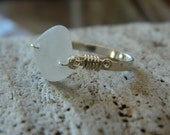 Sea Glass and Sterling Ring