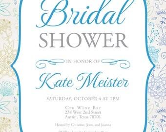 Floral Bridal Shower Digital Invitation