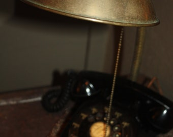 Vintage telephone articulated desk lamp.