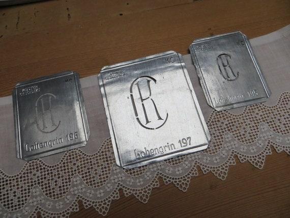 3 Monogram Stencils kc or ck