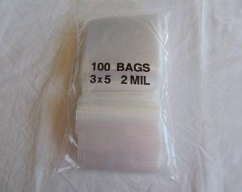 3x5 Zip Lock Poly Bags Recloseable Bags