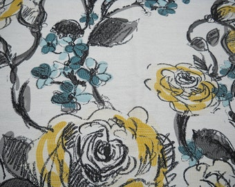 Upholstery Fabric, Floral Design, New, Heavy