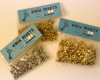 100 Pk Brassed Double Cap Rivet - Finished both Sides # 3, 3/8""