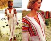 "Vintage 70's Crochet ""Caftan"" Dress PDF Pattern -  INSTANT DOWNLOAD"