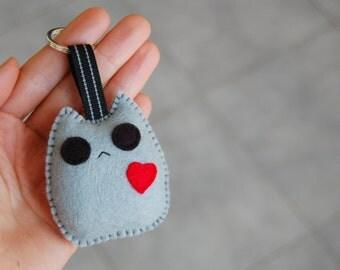 Kawaii cat plush keychain