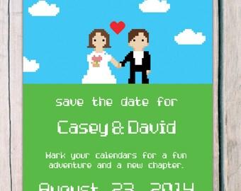 Save the Date - 8 bit