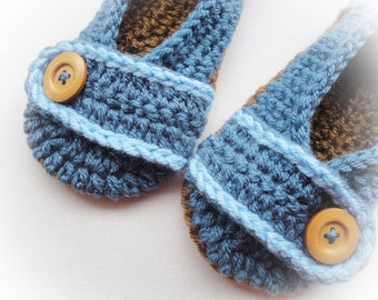Buy Button  Crochet Slippers / Several Colors