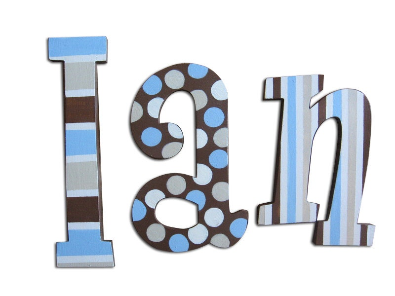 wooden letters wood letters for nursery by cuteboutiqueletters