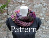 KNITTING PATTERN - Purple haze lace infinity scarf - Listing97