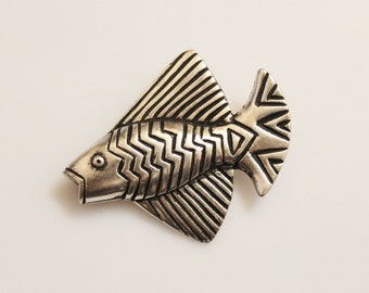 Vintage Fish Brooch By Laurel Burch
