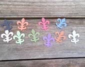 100 Die Cut Fleur De Lis in Various Colors