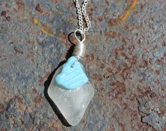 Layered Sea Glass Necklace
