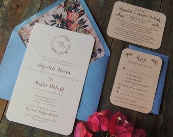 Romantic Garden wedding invitation suite